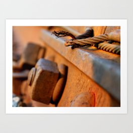 Bolts of the Track Art Print