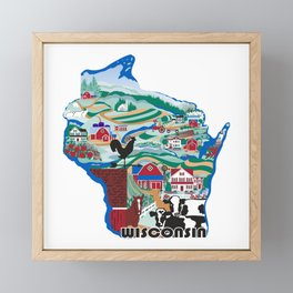 Wisconsin Country Sampler Framed Mini Art Print