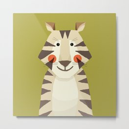 Tiger, Animal Portrait Metal Print