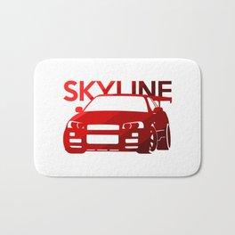 Nissan Skyline GT-R  - classic red - Bath Mat