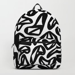Heartstrings Black and White Backpack