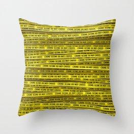 Crime scene / 3D render of endless crime scene tape Throw Pillow