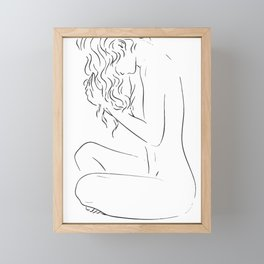 Mina curly hair Framed Mini Art Print