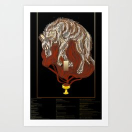 """Blood Offerings"" with Poem Art Print"