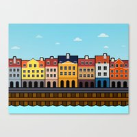 copenhagen Canvas Prints featuring Copenhagen by Al Power