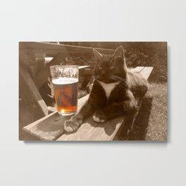 Puss & Bitter  Metal Print