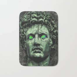 Angry Caesar Augustus Photo Manipulation Portrait Bath Mat
