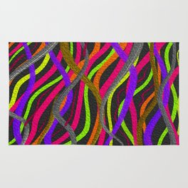 Electric Squiggles Rug