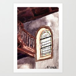 The church of sorrow: L'Isle Art Print
