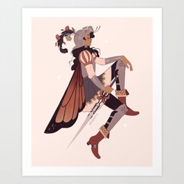 Butterfly- Knightober  Art Print