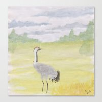 crane Canvas Prints featuring Crane by Linda Ursin - The Strange Bird