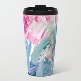 Pink Flurry Travel Mug