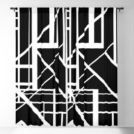 Roadway Of Abstraction - Interstate Abstract Path Blackout Curtain