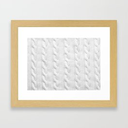 Cable Knit Framed Art Print