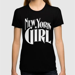 New York Girl B&W / Vintage typography redrawn and repurposed T-shirt