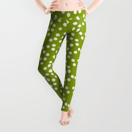 new polka dot 103 green Leggings