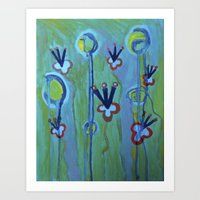 Blue Jolt Art Print