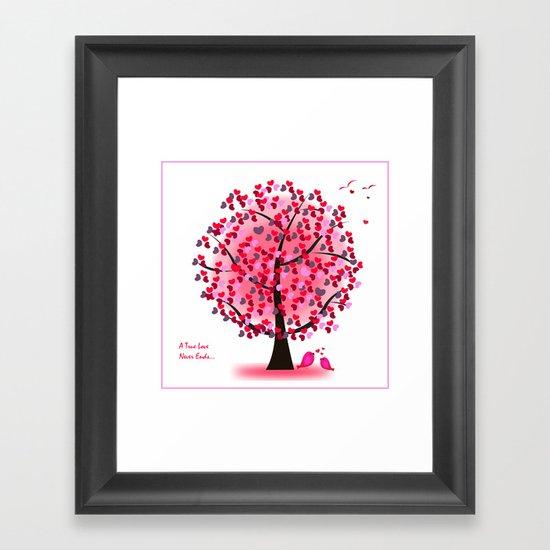 The Love Tree Framed Art Print