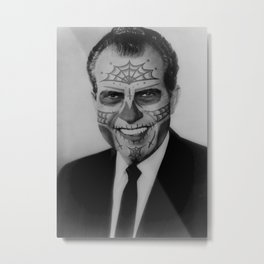 Day of the Dead Presidents: Nixon Metal Print
