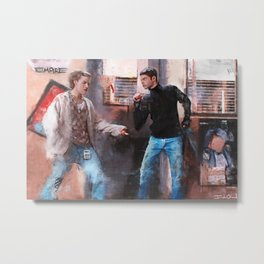 Painting Illustration Of Lucas And AJ From The Cult Classic Film Empire Records Metal Print
