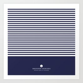 Blue stripes by Brendon Berisha Art Print