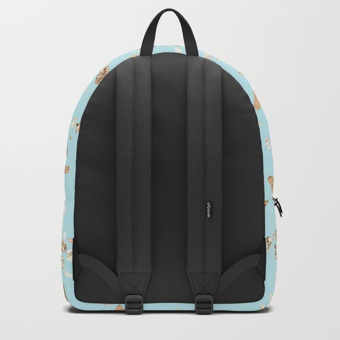 Blue Gold Modern Terrazzo Backpack
