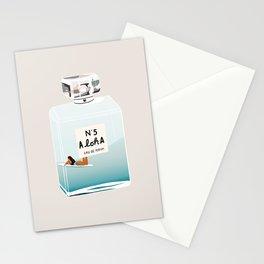 No.5 Aloha, hawaii art, aloha art, summer art, perfume art Stationery Cards