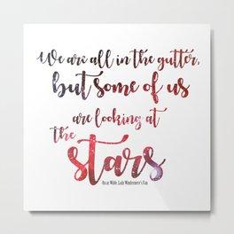 Oscar Wilde Quote Metal Print