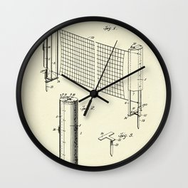 Combined case and post for lawn-tennis nets-1908 Wall Clock