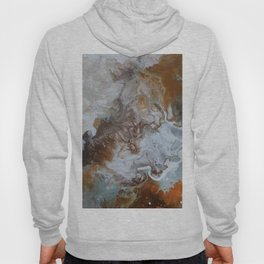 Sage and Umber Paint Pour Print Hoody