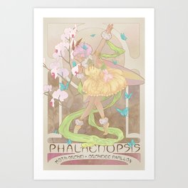 Phalaenopsis, the moth orchid Art Print