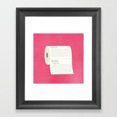 To-Do-Do List Framed Art Print