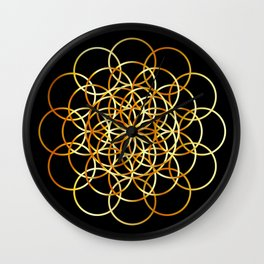 Flower or circle of life Wall Clock