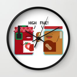 PB & J - High Five Wall Clock