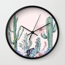 Desert Gemstone Oasis Light Pink Wall Clock