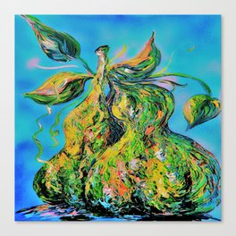 Abstract Pears Canvas Print