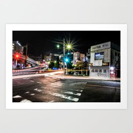 Narita light-trails Art Print