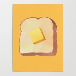 Toast with Butter polygon art Poster