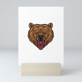 bear for people who like sensitive savages  Mini Art Print