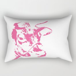 Follow the Herd - Pink #700 Rectangular Pillow