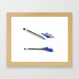 Pen Framed Art Print