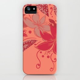 Samoa Watermelon Polynesian Floral iPhone Case