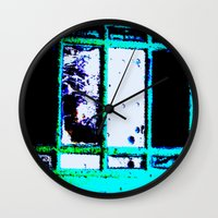 wreck it ralph Wall Clocks featuring Wreck by Time After Time