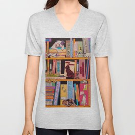 Dog Books With A Difference Unisex V-Neck