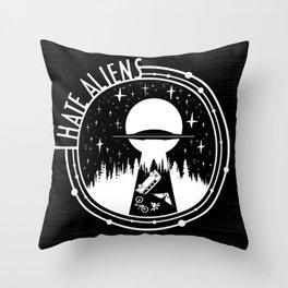 I Love Aliens Throw Pillow