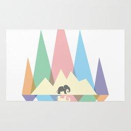 Mountain elephant #society6 #decor #buyart #artprint Rug