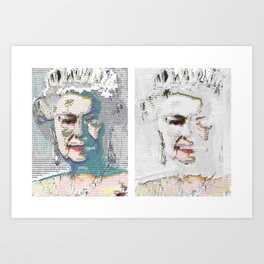 Incompleteness and the queen Art Print