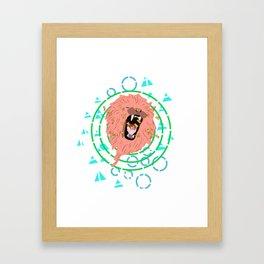 Lion bees Framed Art Print