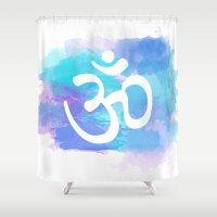 om Shower Curtains featuring Om by Ashley Hillman