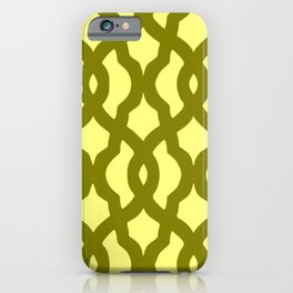 Grille No. 2 -- Yellow iPhone Case